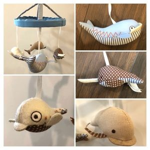 POTTERY BARN KIDS Whales Baby Musical Mobile